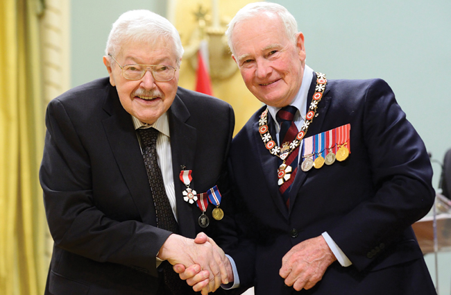 Art Kube receives the Order of Canada
