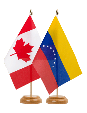 Canada and Venezuela flags