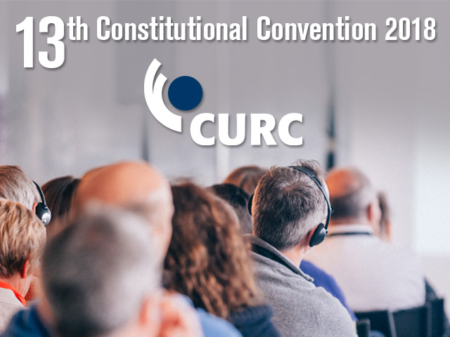 13th CURC Constitutional Convention 2018