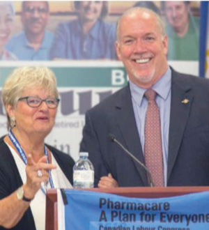Diane Wood with BC Premier John Horgan
