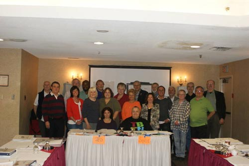 The course instructors, Bob Hatfield and Pat Kerwin (back row at left) are pictured below with the participants.