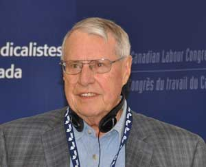 Larry Wagg, Past-President of CURC and former National Director of Education for the Canadian Labour Congress.
