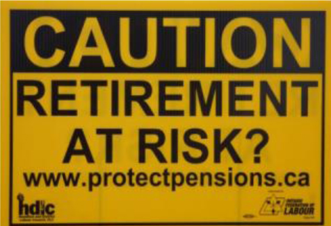 Retirement at Risk lawn sign